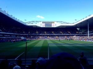 Game time at White Hart Lane.