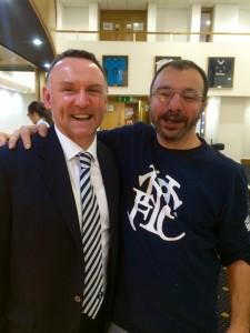 Paul Allen looks genuinely happy to meet Rick.
