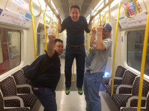 He's finally awake and performing levitation on the tube.