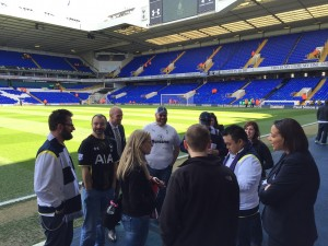 Chicago Spurs just hanging pitch-side  like it's no big deal.